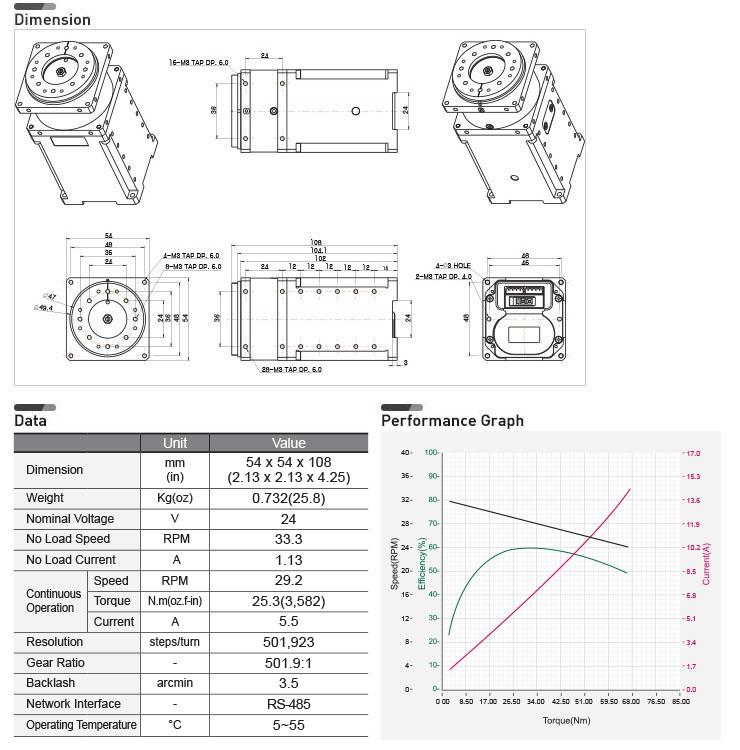 Dynamixel H54-100-S500-R